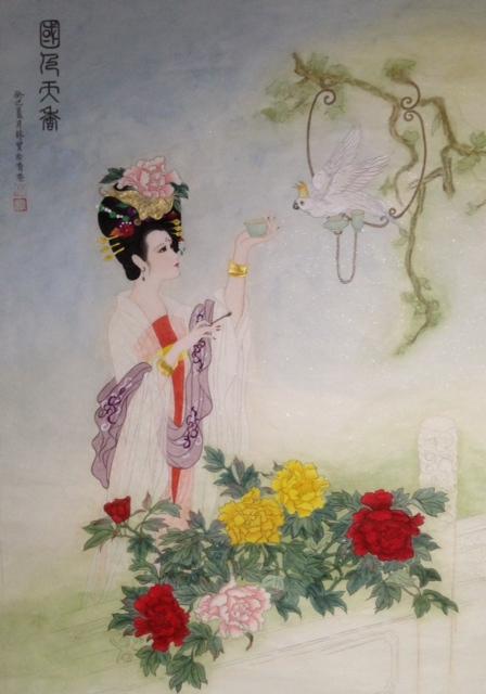 Chinees schilderij 'Tang Beauty' - Bao Bao Lin