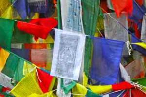 Decormateriaal: Tibetaanse gebedsvlaggen