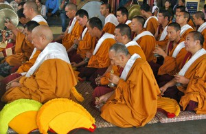 Little Tibet IPA reis - Main Tempel - gapende monk